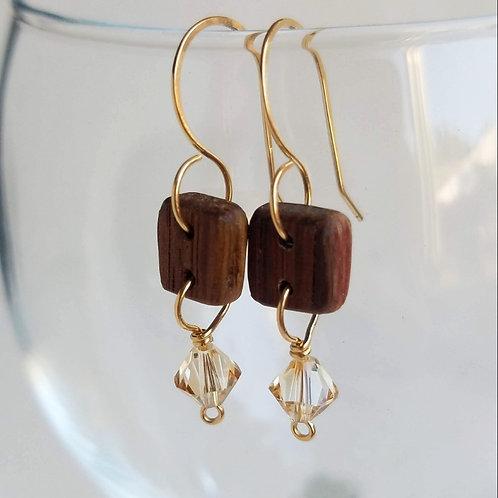 Carrie Ann Swarovski Crystal Earrings