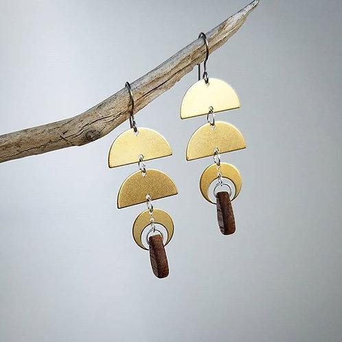 Golden Luna Earrings