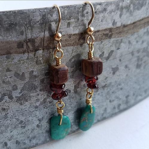 Turquoise Pendant Earrings