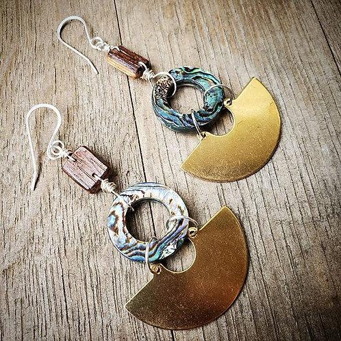 Adara Earrings - Paua Shell