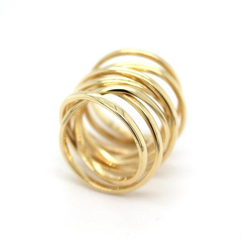 9ct Spiral Ring
