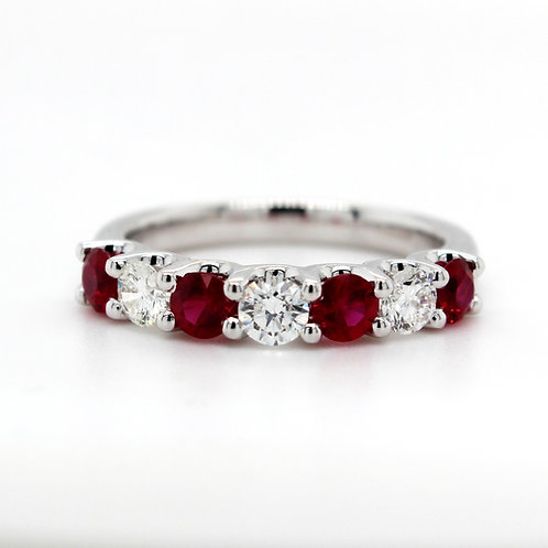 18ct white gold Burmese ruby & diamond ring