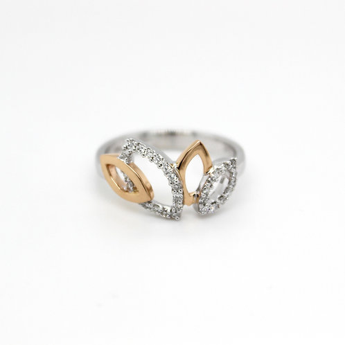18ct white gold marquise shaped diamond ring