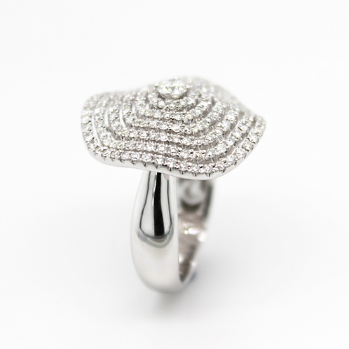 18ct white gold diamond cocktail ring
