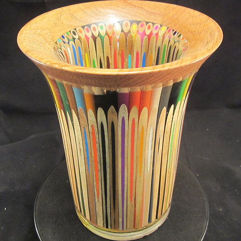 A 113 Colored Pencil Vase