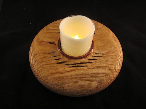 "A 136 Sandblasted Oak candle vase 10x4"""