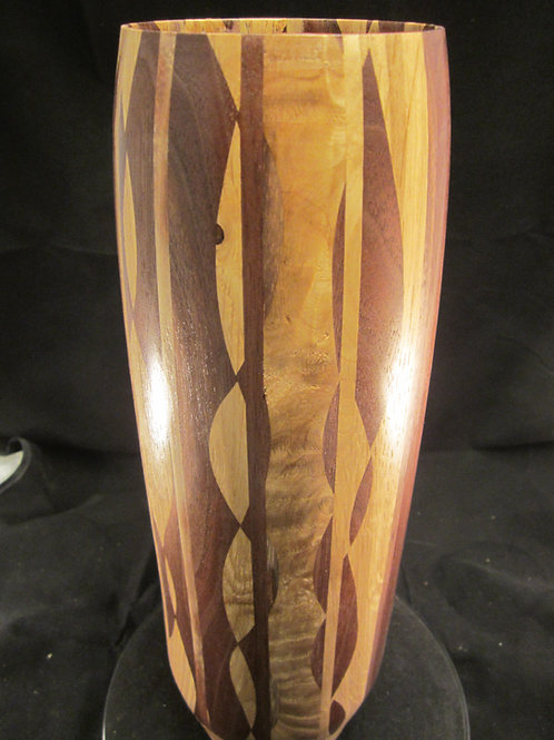 A 108 Mosaic wood vase