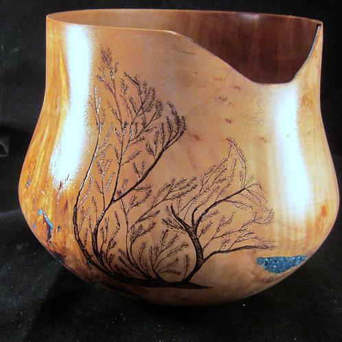 Bird's Eye Maple Vase