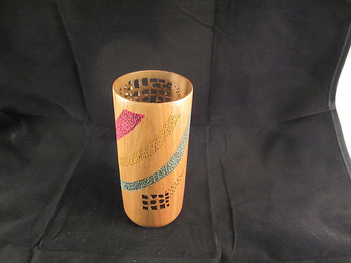 A 129 Carved cherry vase