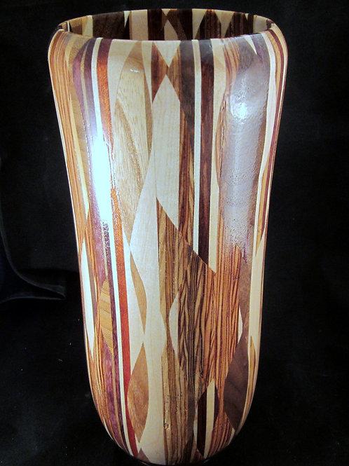 A 157 Mixed Wood Vase