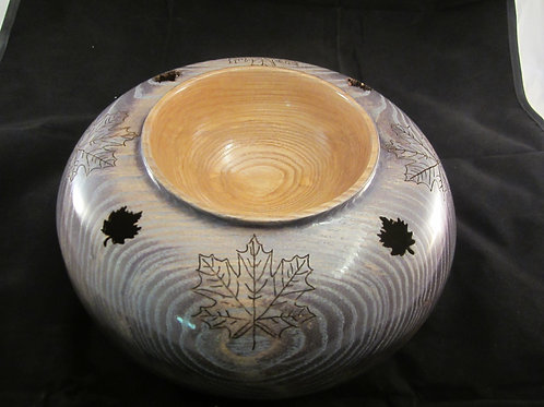 Ash Vase Hollow and Carved