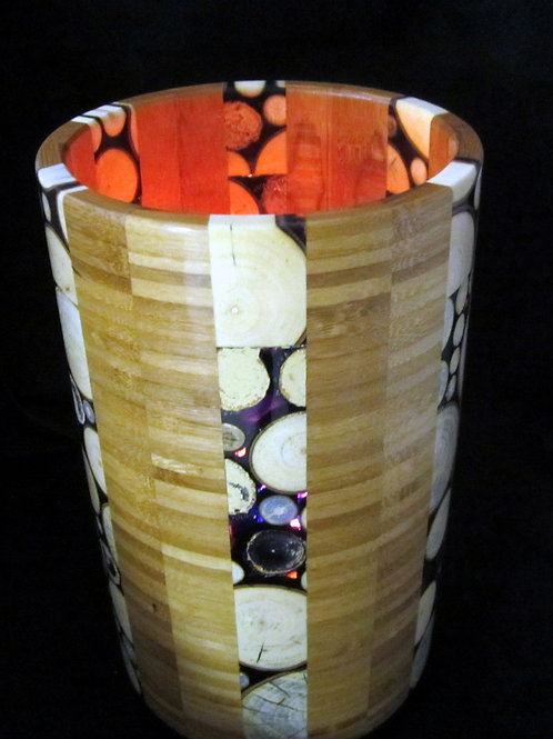 A 158 Branch and Bamboo Vase