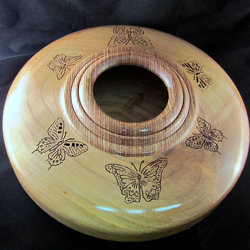A 148 Carved Maple Vase
