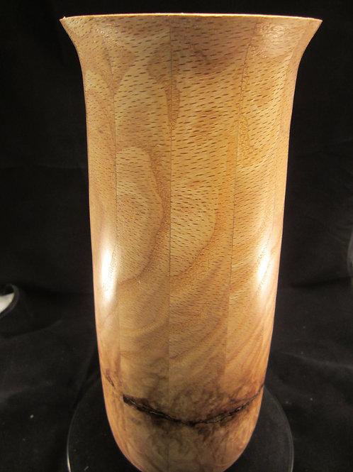 "A 109 Oak and Brass vase 13""x4"""