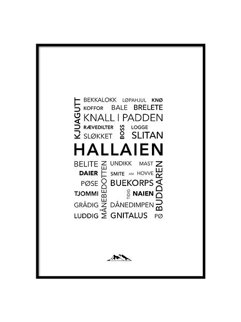 Hallaien Plakat