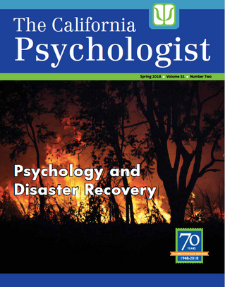Dr. Brown and Peter Louras published in The California Psychologist magazine, sharing information ab
