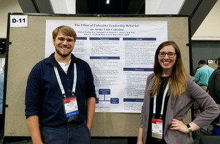 Lab Member Katie J. Carlson and co-author Alexander J. Erickson present their research at APA in San