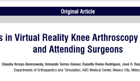 Outcomes in Virtual Reality Knee Arthroscopy for Residents and Attending Surgeons