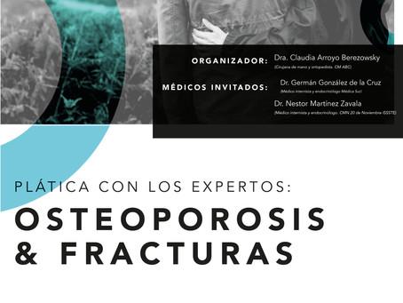 Plática con los expertos: osteoporosis y fracturas