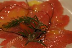Carpaccio de saumon vbtraiteur