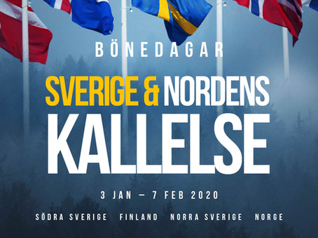 Bönedagar Sveriges & Nordens kallelse * 3 jan-7 feb