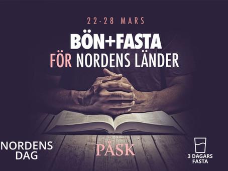 BÖN OCH FASTA FÖR NORDENS LÄNDER i samband med påsken och Nordens dag