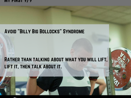 Competition Hints To Help You Go 9/9- Billy Big Bollocks Syndrome