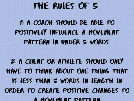 The Rules Of 5- How To Coach Effectively & Win At Life