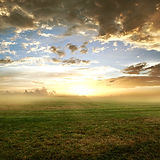 sky-trees-morning-clouds-view-field-sunr