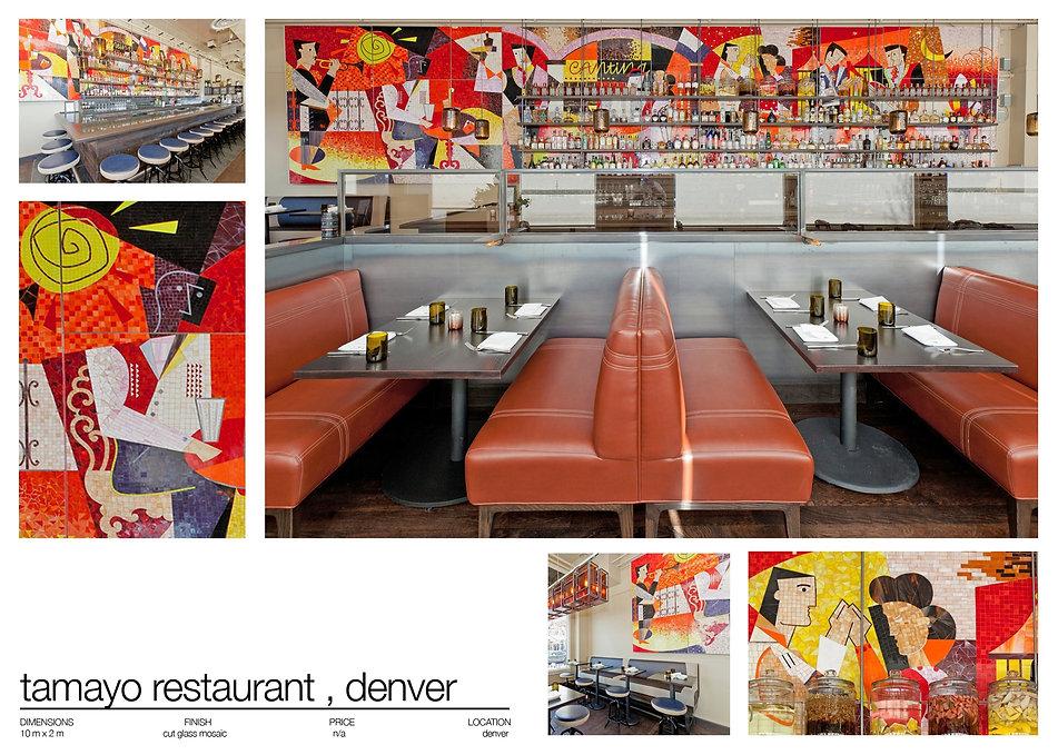 tamayo restaurant, mosaic mural,restaurant mosaic, mural,martin brown mosaics,