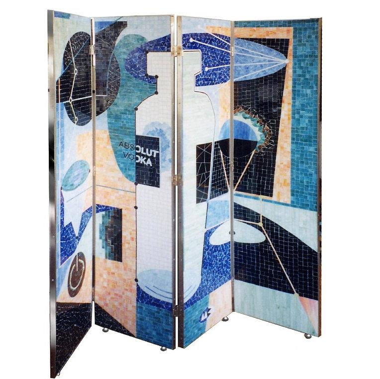 absolut vodka screen,absolut vodka,mosaic screen,martin brown mosaics,