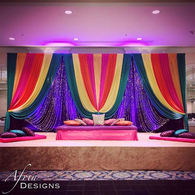 Mehndi stage this past week! Today seemed like an appropriate time to post