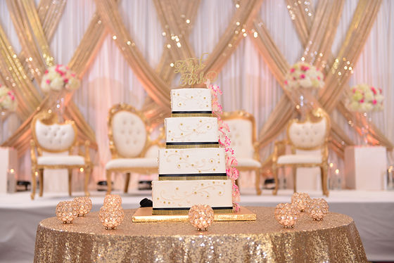 Wedding stage and Cake Table Decor