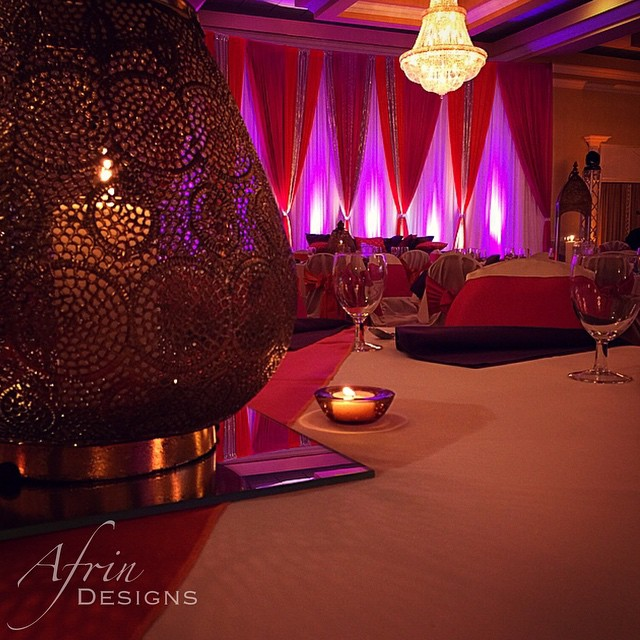 Mehndi night! Hot pinks, burnt oranges, deep purples, and hints of green made up this palette