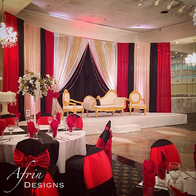 The bold and beautiful black and red wedding! I love how the black intensifies the color palette and