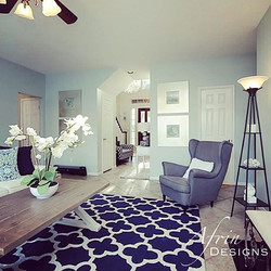 Same Houston home, different room. Here is a glimpse of the family room. We wanted to make it a litt