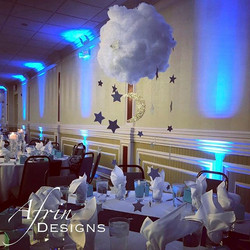 _Twinkle Twinkle Little Star_ 🌟How adorable are these custom cloud centerpieces_! We created this o
