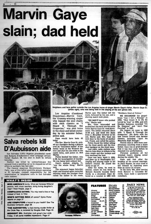 Marvin Gaye slain; dad held