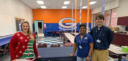 Michelle Eubank and Pass Road Elementary Administration