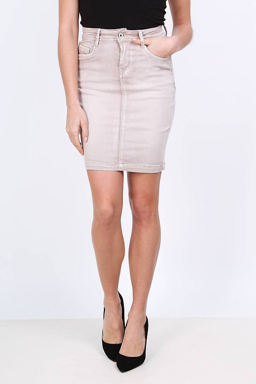 SKIRT JUPE COULEUR TAUPE ON540