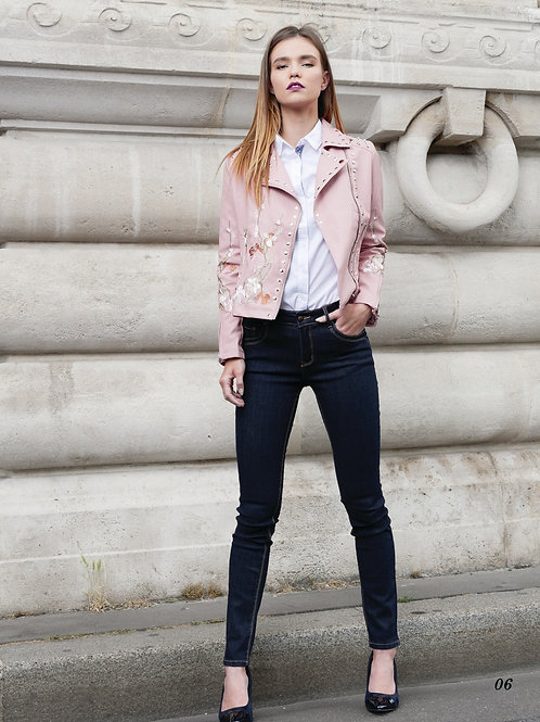 JACKET VESTE PVC M603 ROSE