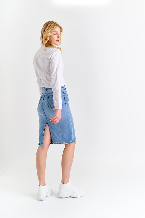 LONG DENIM SKIRT - JUPE EN JEAN LONGUE
