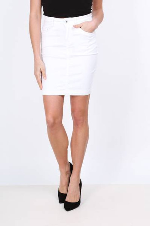 SKIRT JUPE COULEUR BLANC ON540