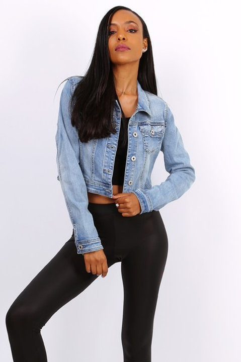 SHORT DENIM JACKET - VESTE EN JEAN COURTE