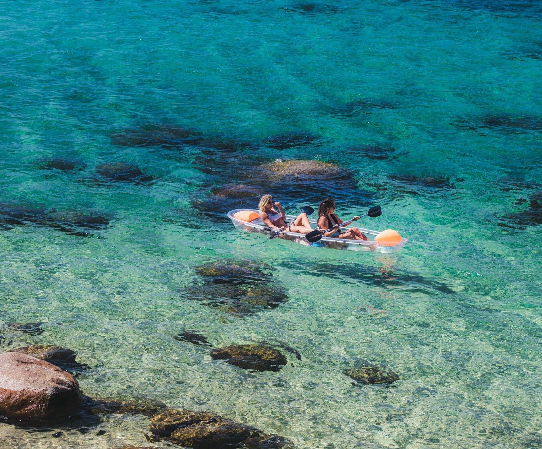 1 Hour Tandem Clear Kayak Rental
