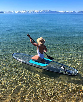 Clear Paddle Board