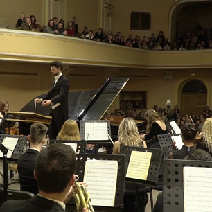 Hilghlight of 'Piano concerto No1', Composer: P. Tchaikovsky, Pianist: Khrystuna Mihailichenko, Conductor: Yaroslav Shemet, with the Academic symphony orchestra INSO