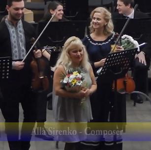Solo violin: Igor Muravyov, Solo alto: Roxana Kalynets, Composer: Alla Sirenko, with The Lviv Philharmonic Orchestra