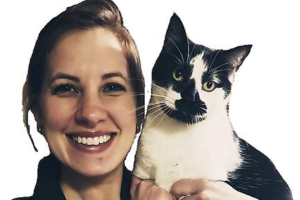 Elizabeth Abrams | Veterinary Assistant | black & white cat