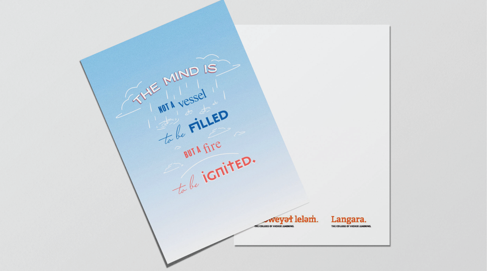 Typographic Greeting Card